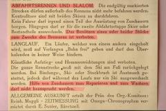 ZO Verbandsskirennen, Reglement Abfahrt, Slalom