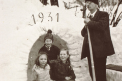 Lehrer Eberhard, Walter + Trudi Eberhard, Päuli Brandenberger