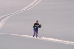 Hansruedi Jöhr, Langläufer auf der präparierten Loipe