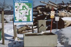 Loipen-Tafel bei Wappenswil
