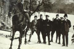 Skirennen Wappenswil, auf dem Pferd Willi Küng