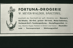 Inserat Fortuna, Drogerie H.Meyer-Walder, Wintersportartikel