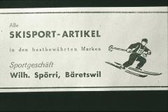 Verbandsskirennen, Inserat Sportartikel, Wilhelm Spörri (Vater von Ernst Spörri)