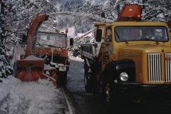 Schneeräumung mit Schleuder