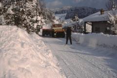 Schneeräumung an der Rigistr