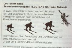Inserat Bä-Po, Skirennen Steig