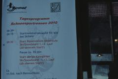 Programm für die Schneesportrennen + Dorfmeisterschaften