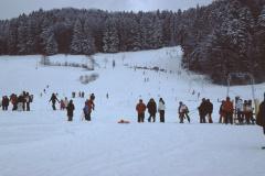 Skihang, ausgesteckt der Riesenslalom