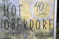 Plakat 40 Jahre Hof Oberdorf
