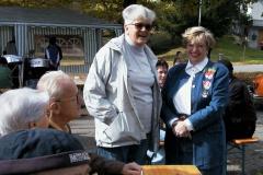 Treffen der Bäretswiler Oldtimer-Freunde. vl Mia Held, Beatrix Kläy