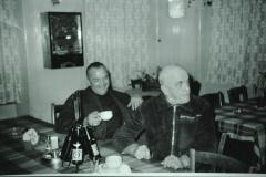 Restaurant Alpenblick, Gaststube mit Hans Kunz + Reinhold Walder