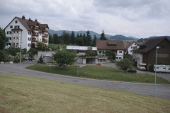 Neuer Wohnblock (ehem Lüthi) und ehem Restaurant Alpenblick