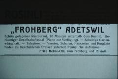 Rosinli, Frohberg Inserat