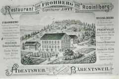 Gasthof Frohberg Adetswil, Reklame