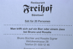 Restaurant Freihof, Inserat Männerturntag