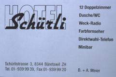 Hotel Schürli, Inserat Männerturntag