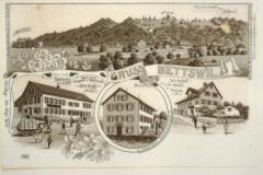 Ansichtskarte Bettswil mit Wirtschaft und Handlung Kägi