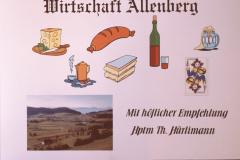 Wirtshaus Allenberg, selbsgestaltetes Wirtshausinserat