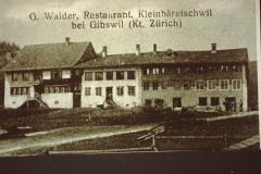 Detail Flarz Chloster (gehörte zum Kloster St. Gallen) mit rt Rest. Walder/Glärnischblick