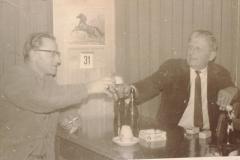 Alte Wirtschaft Berg, Wirtsstube mit Albert Egli + Fritz Ruch