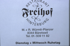Rest. Freihof Hinterburg, Inserat Männerturntag