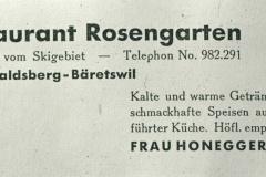 Rest. Rosengarten Tisenwaltsberg, Inserat