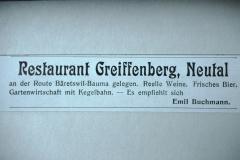 Rest. Greiffenberg, Inserat