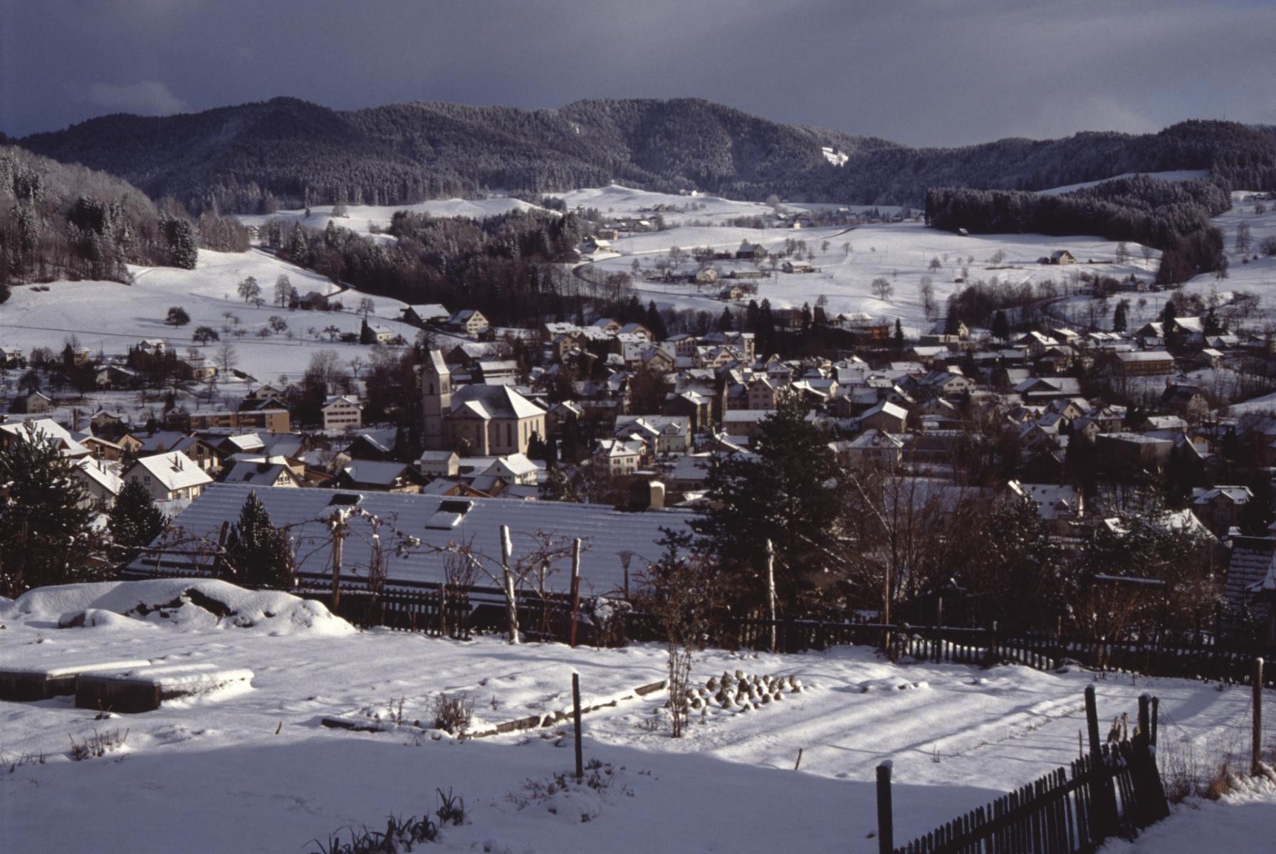 Blick von der Tödistr auf das Dorf