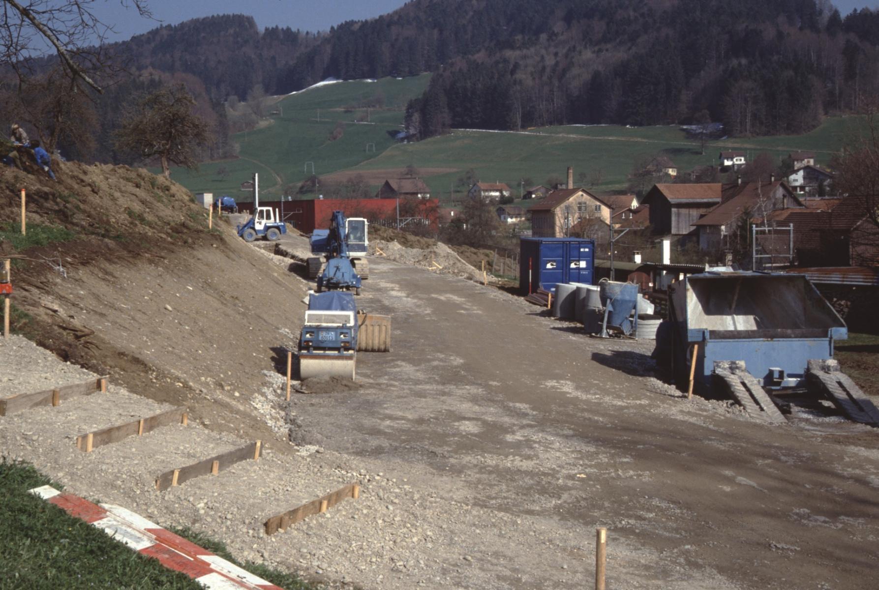 Bau der Grundstrasse