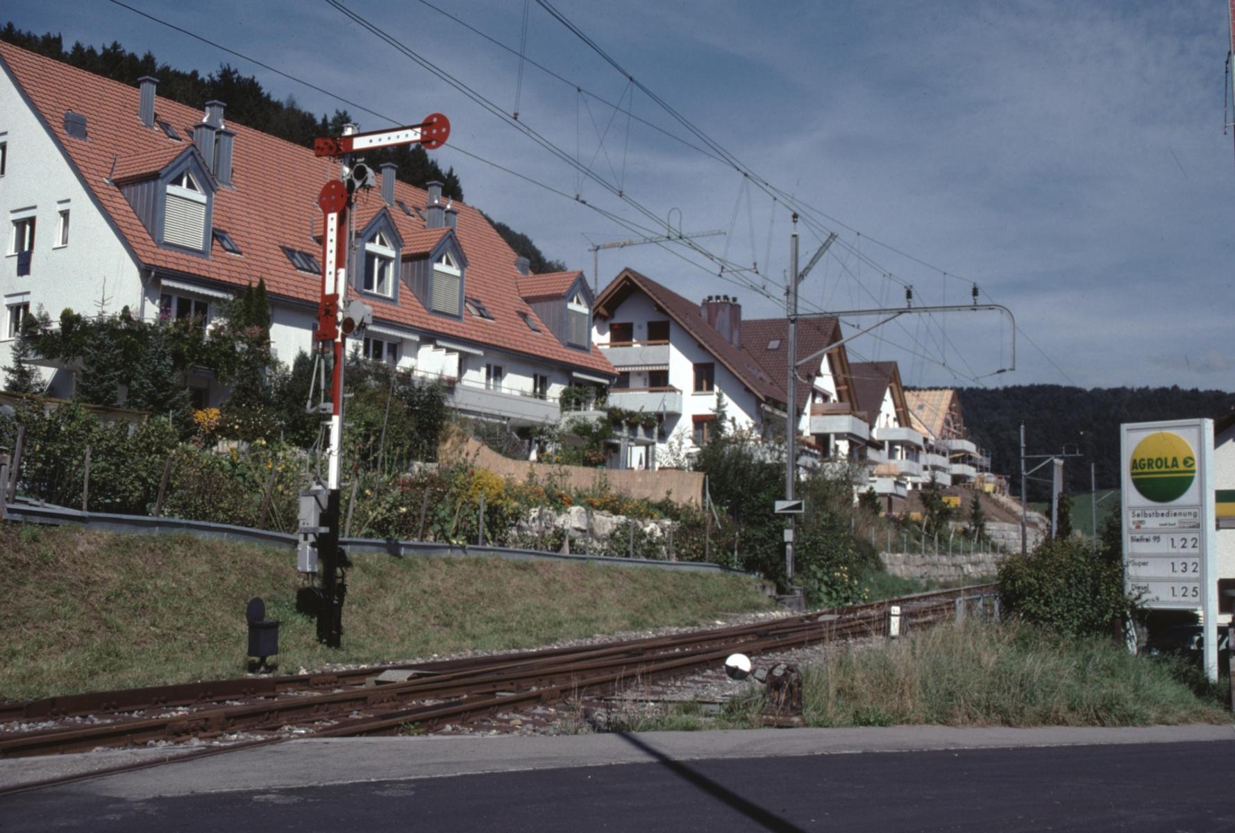 Die neuen Häuser an der Grundstr.