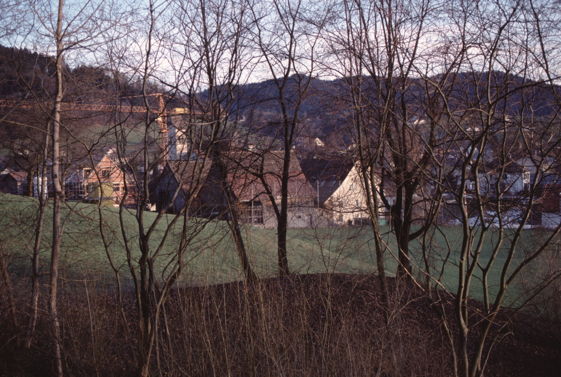 Blick gegen die Grundstr. vom Lettenschulhaus aus