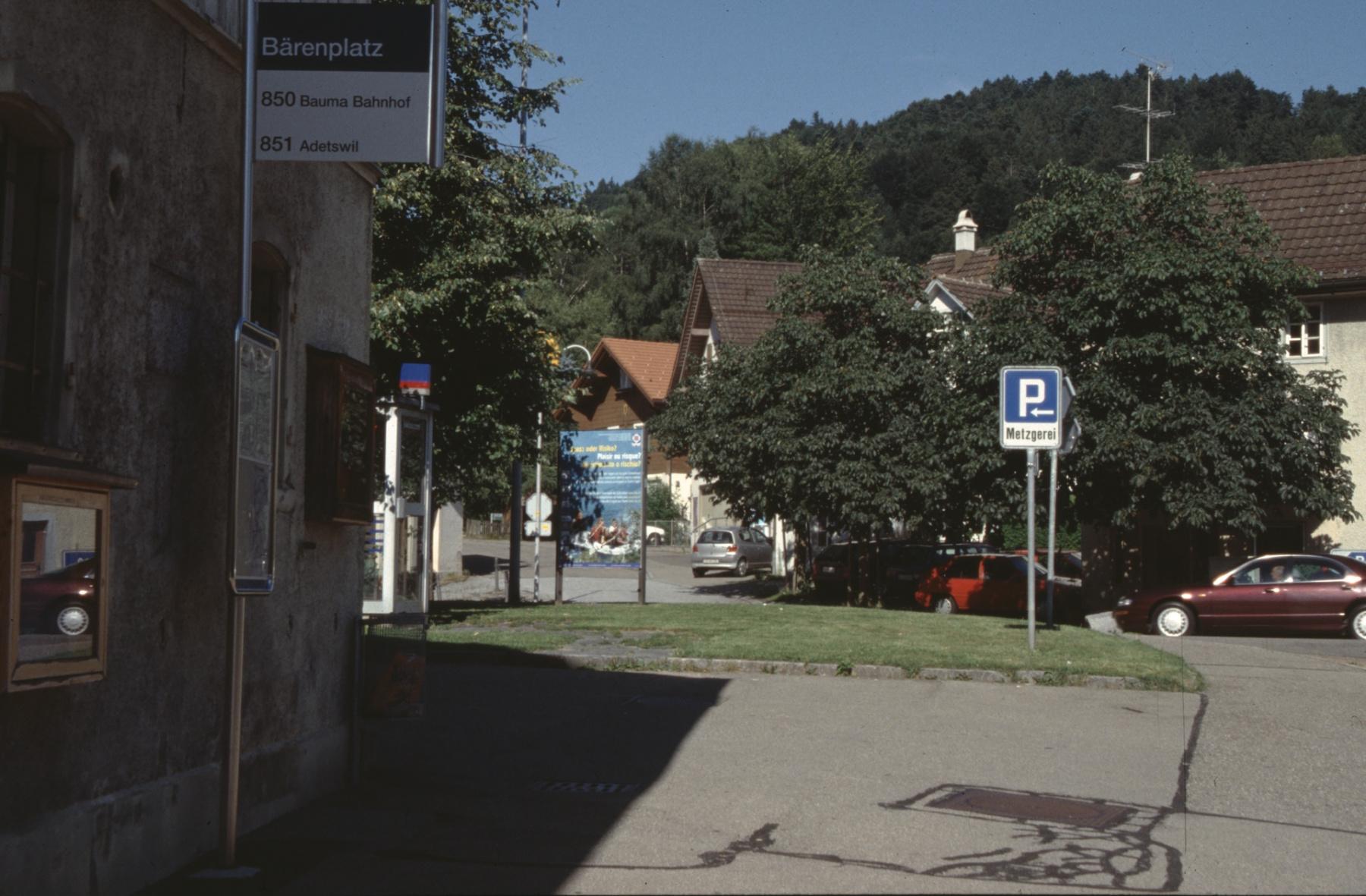 Einfahrt zur Bahnhofstrasse
