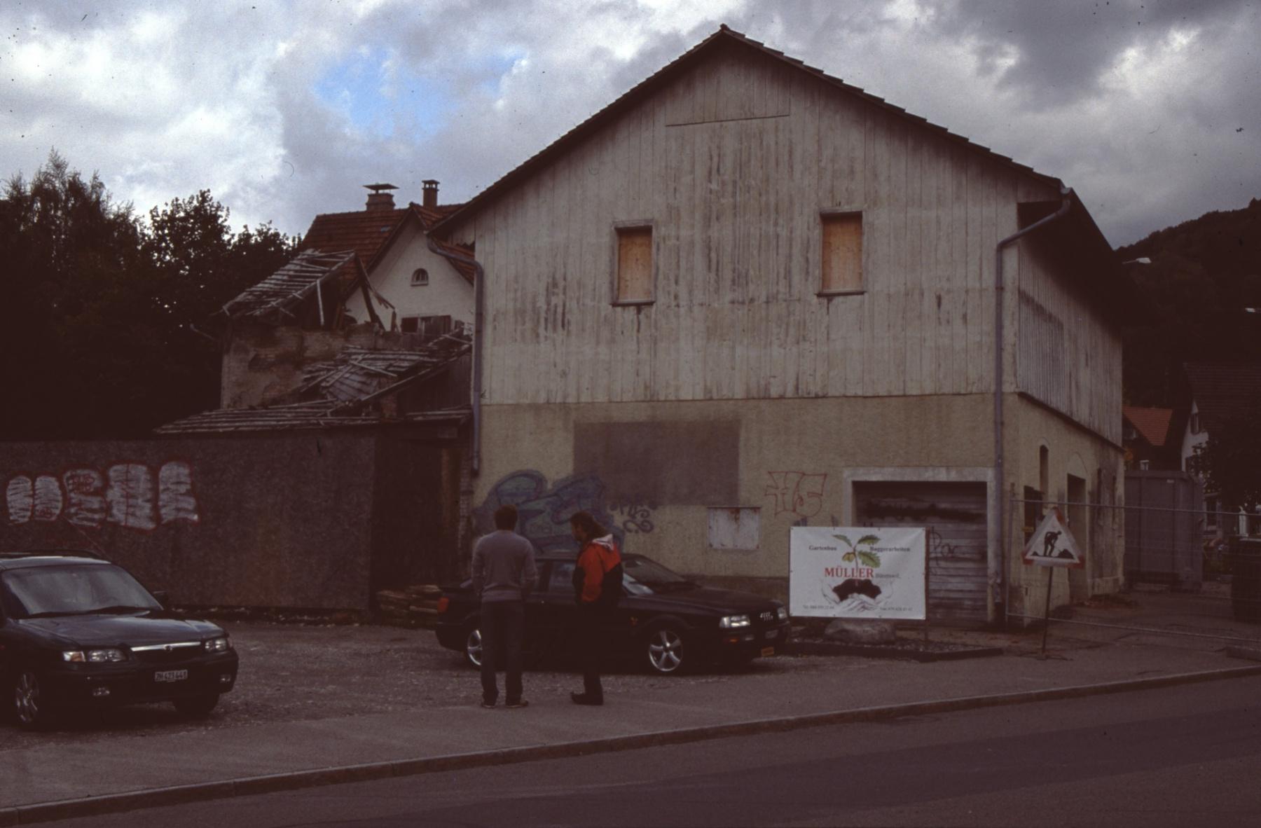 Abbruch 'Bärischür' 13. Okt. 2009