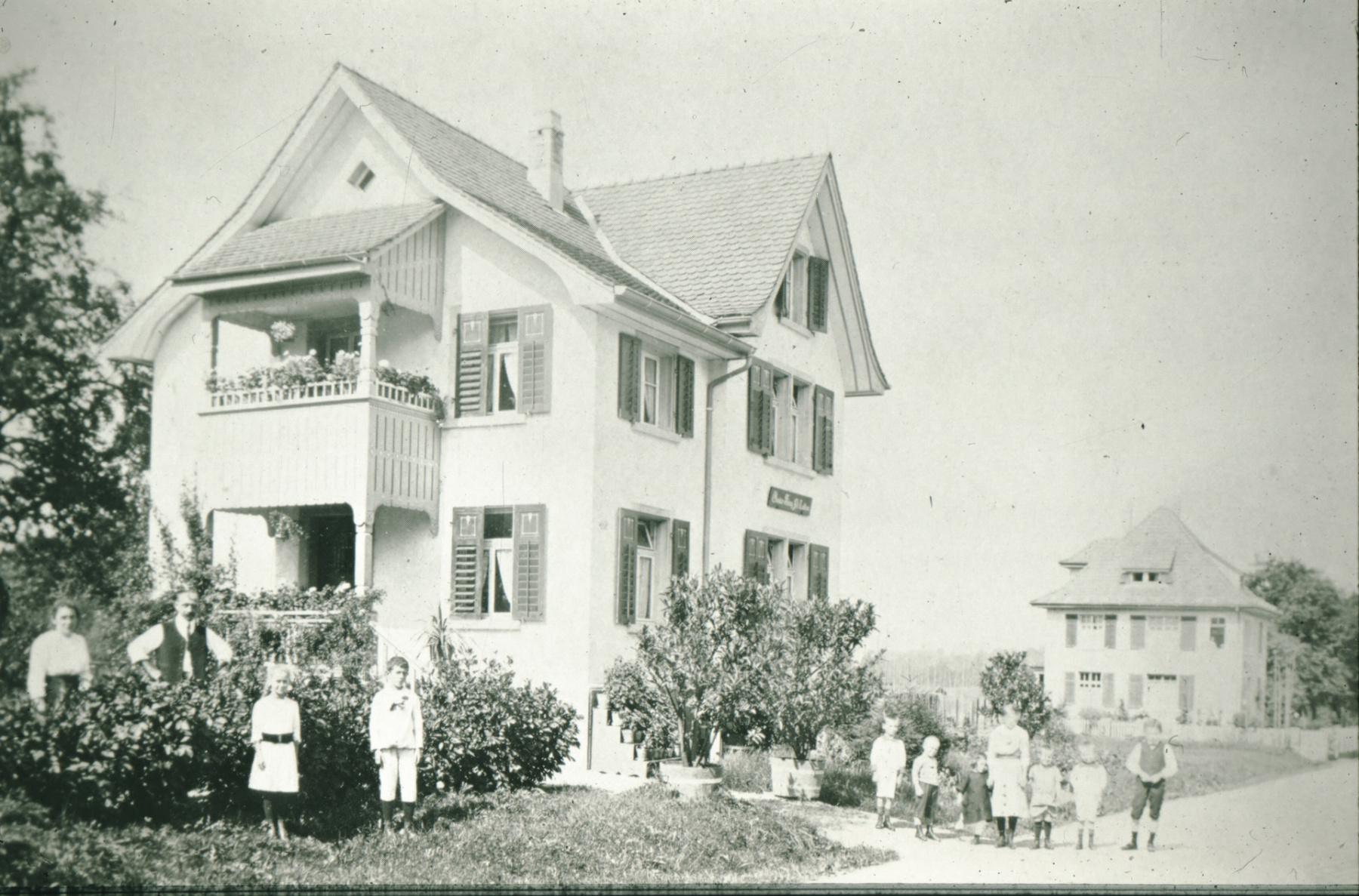 Bahnhofstr, Häuser Buchmann, Wäfler