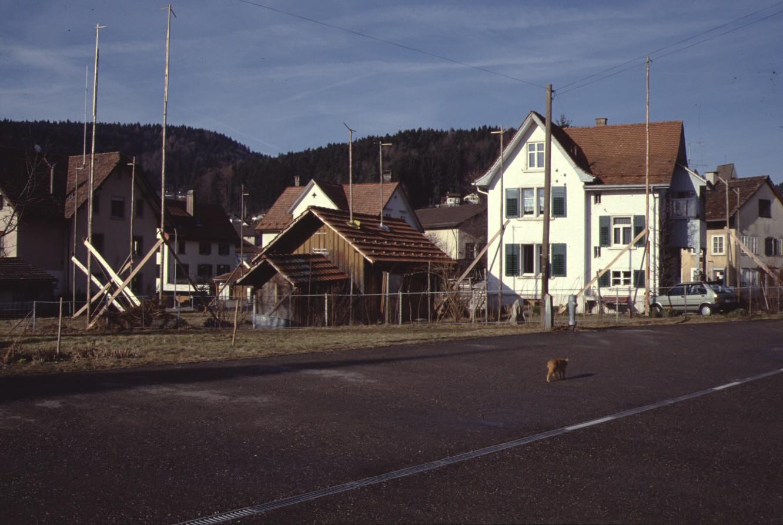 Bahnhofstr, Liegenschaft Buchmann mit Baugespann