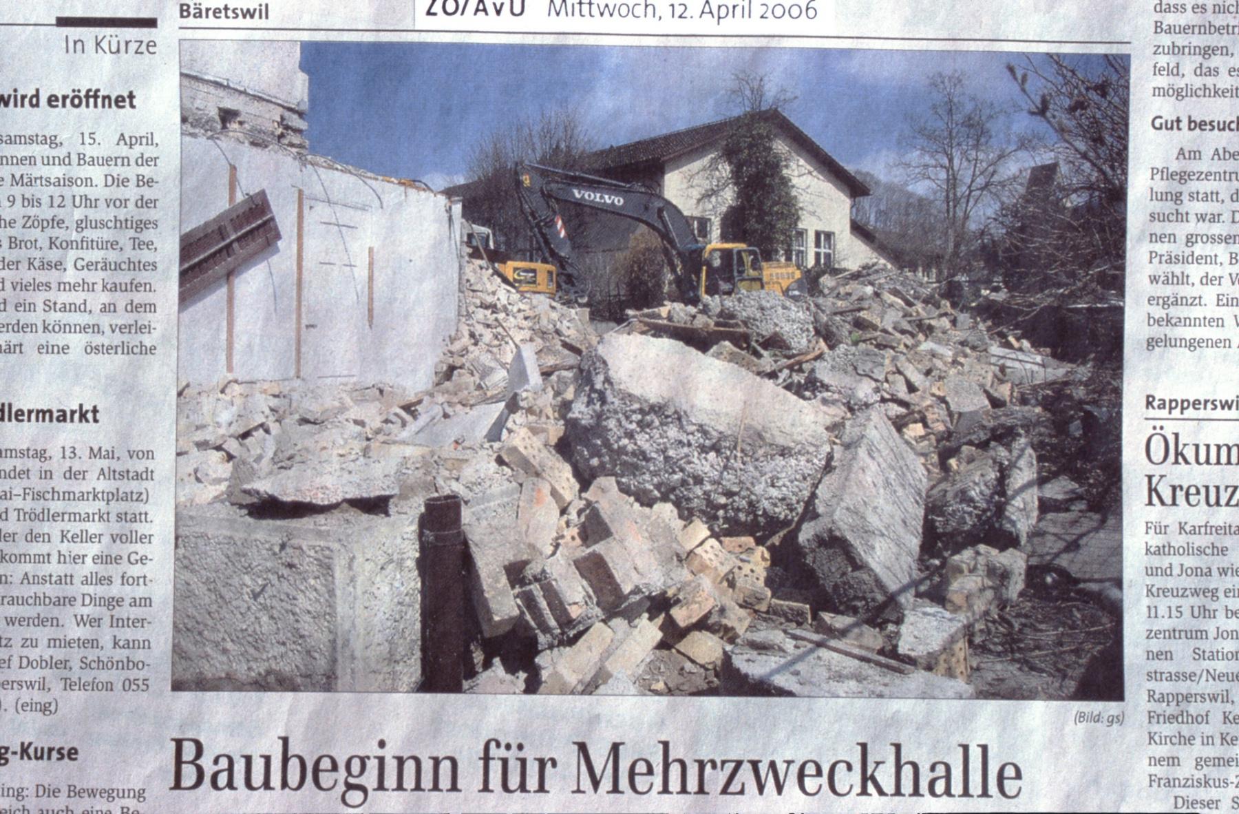 Baubeginn für Mehrzweckhalle