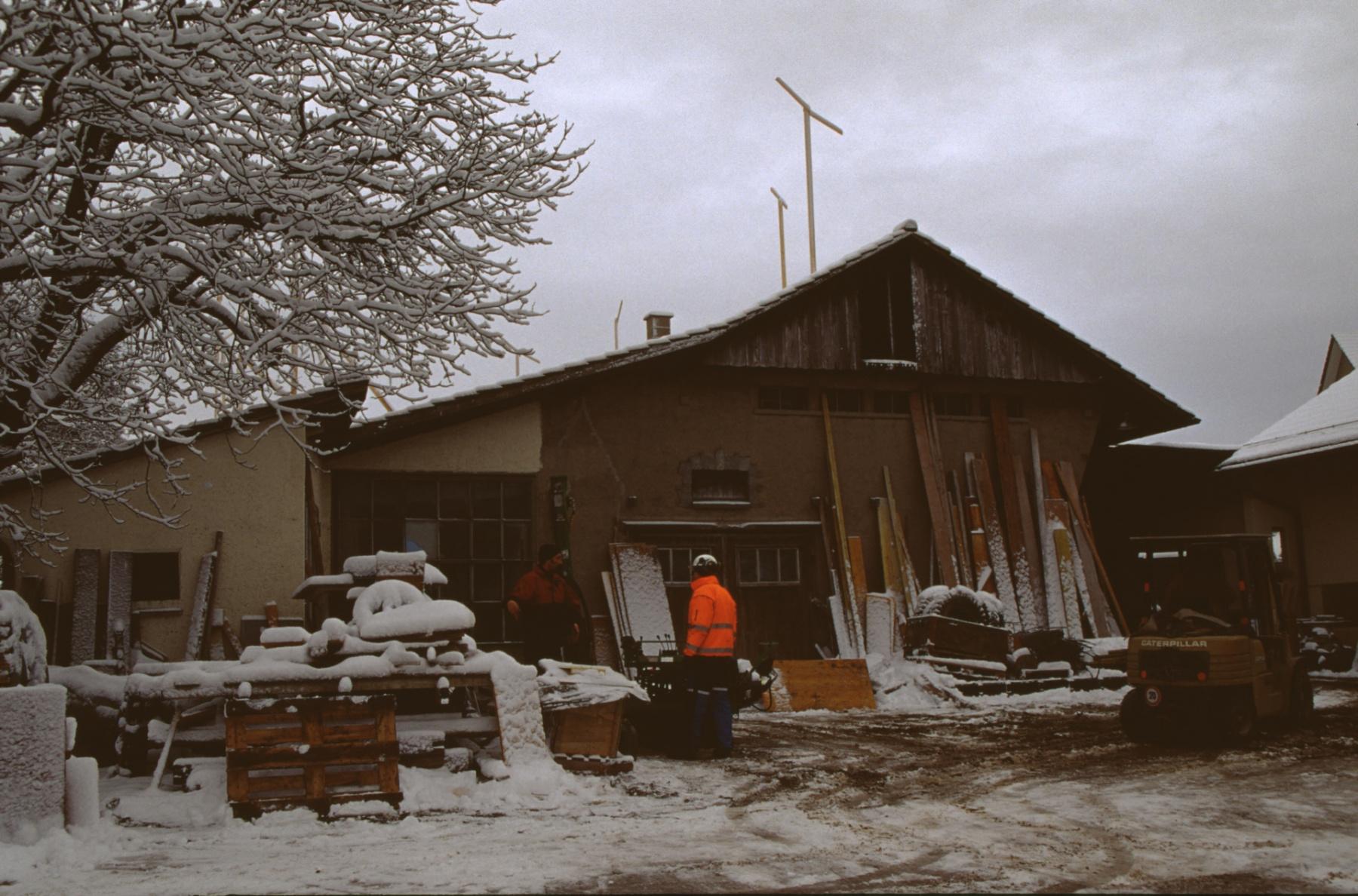 Werkgebäude Boito, Baugespann für Mehrfamilienhaus