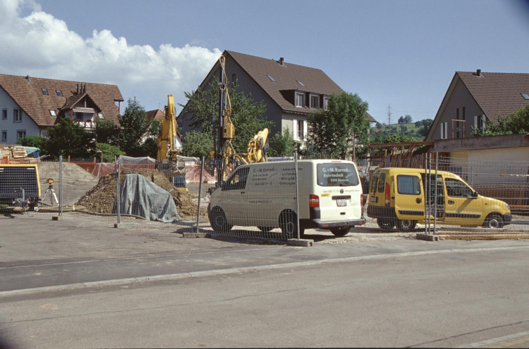 Nach Abbruch Werkhalle Boito, Bauplatz Wohnhaus