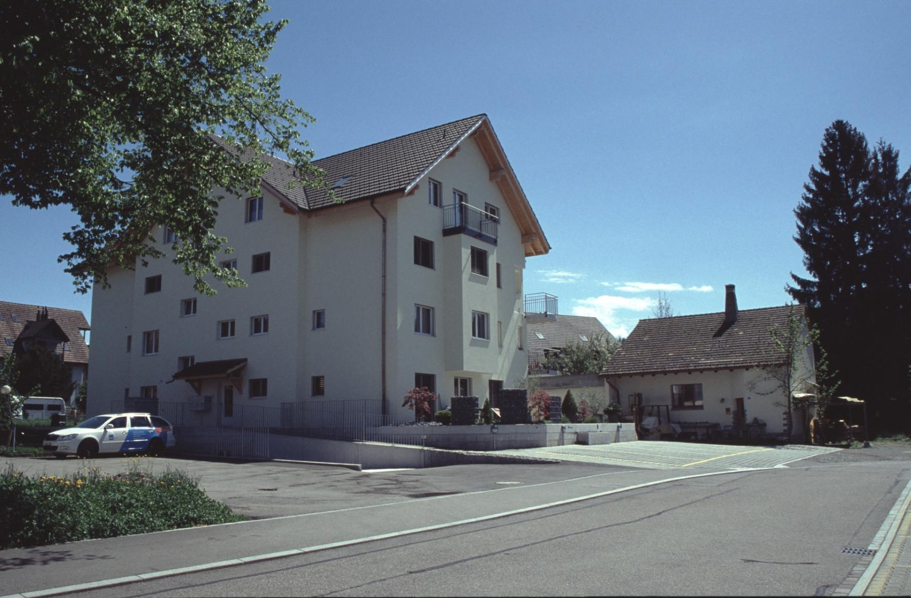 Haus Boito + Neues Wohnhaus Sunier anstelle der Werkhalle