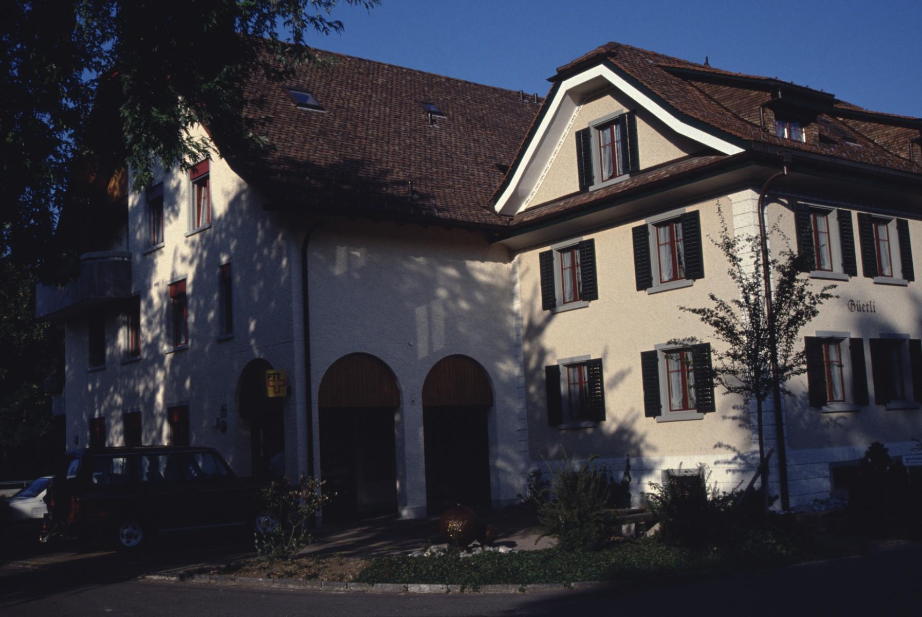 Güetli-Post ca 1990 (der Anbau der Post ans Güetli erfolgte 1987)