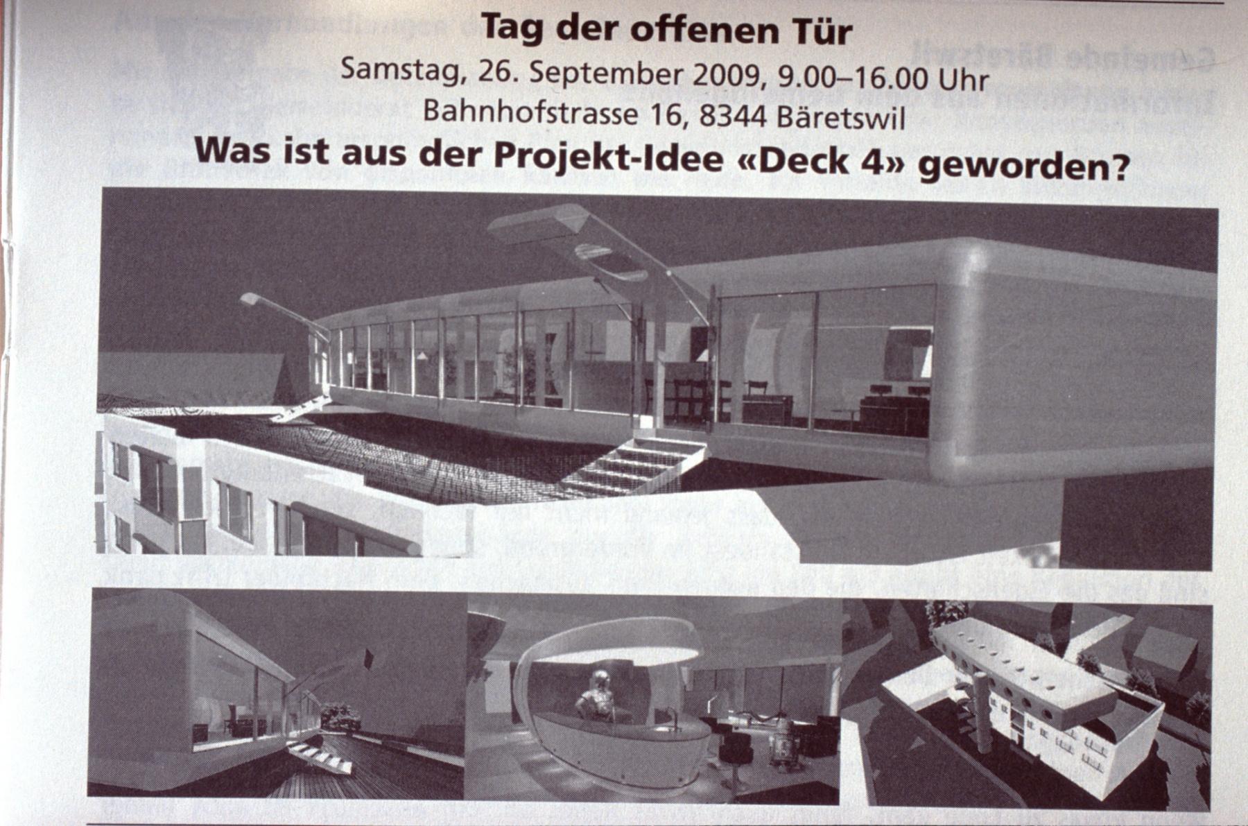 Deck 4 Aufbau auf das Gebäude der Kantonalbank, TdoT