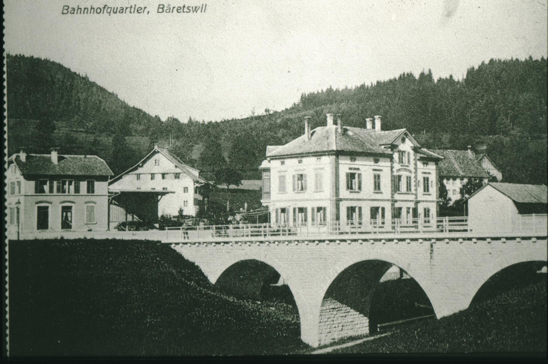 Postkarte. Bahnhofquartier