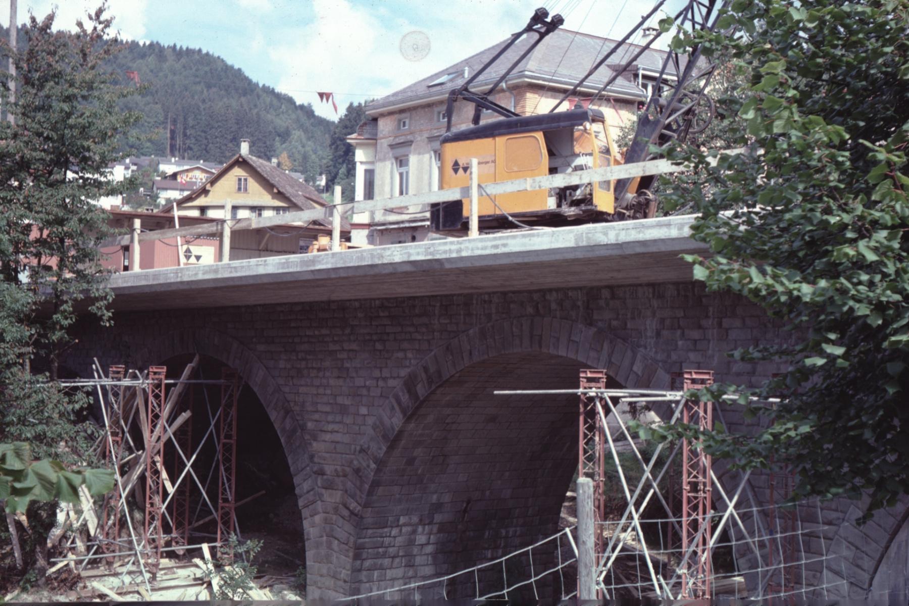 Vorbereitung der Bahnhofbrücke