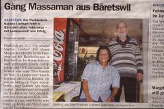 ,Gäng Massaman aus Bäretswil' ehem Schuhmacherei, Zeitungsartikel zum Thai Takeaway