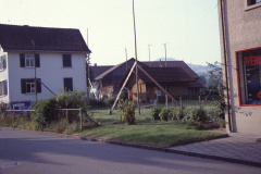 Bahnhofstr 11, Baugespann Hans Buchmann, imHG Scheune Gnehm