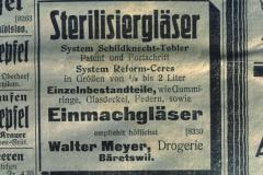 Inserat Drogerie Walter Meyer