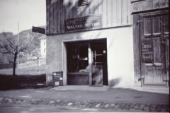 Baumastr. Drogerie Meyer, Laden im Schopf neben der Drogerie während Umbau