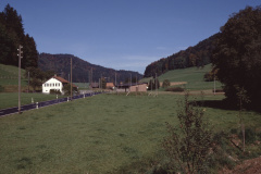 Baumastr, Schützenhaus mit Baugespann (Blick von Garage Stern Rtg Bussenthal)