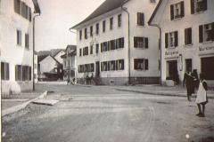 Metzgerei Alwin Bertschinger sen., Bären, Kolonialwaren-Laden Keller-Baur, Lindenplatz