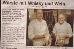 Würste mit Whisky und Wein